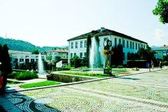 Sikt från den Troyan Bulgarien Arkivfoton
