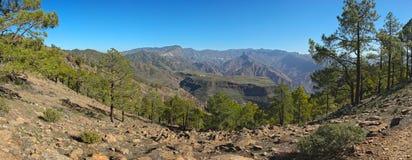 Sikt från det Altavista berget till Gran Canaria Fotografering för Bildbyråer