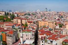Sikt från det Galata tornet i Istanbul Fotografering för Bildbyråer