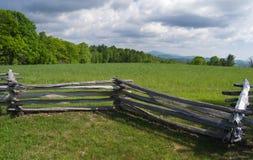 Sikt från det Groundhog berget - blåa Ridge Parkway, Virginia, USA Royaltyfria Bilder