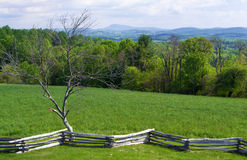 Sikt från det Groundhog berget - blåa Ridge Parkway, Virginia, USA Royaltyfri Bild