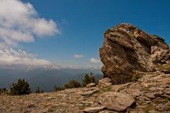 Sikt från det högsta berget, Colorado Arkivbild