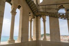 Sikt från det Klocka tornet, domkyrka av helgonet Domnius Arkivbilder