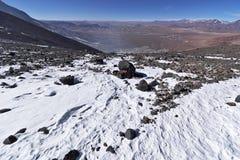 Sikt från det Lascar berget Arkivbild