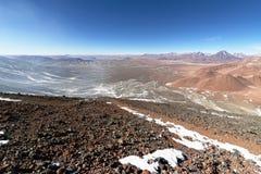 Sikt från det Lascar berget Royaltyfri Foto