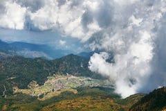 Sikt från det Lawu berget Royaltyfri Bild