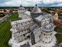 Sikt från det lutande tornet i Pisa royaltyfria bilder