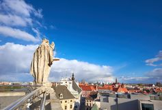 Sikt från det matematiska tornet i universitet av Wroclaw Arkivfoto