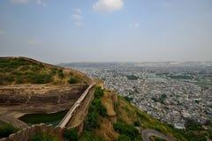 Sikt från det Nahargarh fortet Royaltyfri Fotografi