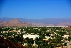 Sikt från det Nizwa fortet, Oman Arkivfoton