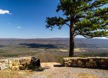 Sikt från det Potts berget, Virginia fotografering för bildbyråer