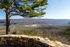 Sikt från det Potts berget, Virginia arkivbilder