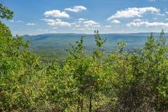 Sikt från det Potts berget, Virginia, USA fotografering för bildbyråer