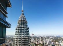Sikt från det 86th golvet av Petronas tvillingbröder Fotografering för Bildbyråer