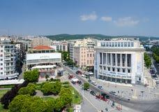 Sikt från det vita tornet på Thessaloniki, Grekland Royaltyfri Bild