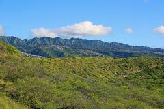 Sikt från Diamond Head Hawaii Royaltyfri Fotografi