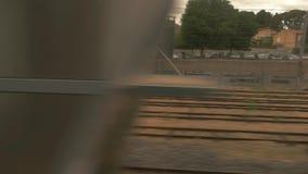 Sikt från drevfönster lager videofilmer