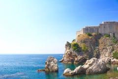Sikt från Dubrovnik, Kroatien Royaltyfri Bild