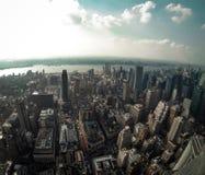 Sikt från Empire State Building Arkivbild