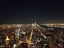 Sikt från Empire State Building på natten Royaltyfri Fotografi