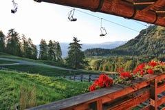 Sikt från en balkong royaltyfri foto