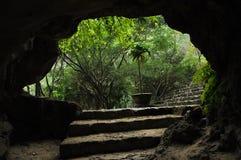 Sikt från en grotta M.U.A.-grotta vietnam Arkivfoton
