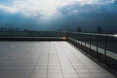 Sikt från en moderna byggande Tel Aviv, Israel Royaltyfria Foton