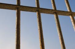 Sikt från ett fängelse Arkivfoton