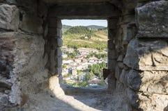 Sikt från ett slottfönster Royaltyfri Foto