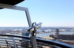 Sikt från Euromast på Rotterdam port, Holland Fotografering för Bildbyråer