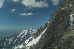 Sikt från fågelperspektivet av bergen! Arkivbilder