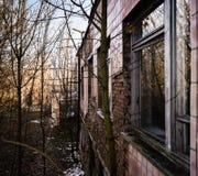 Sikt från fönster i pripyati Arkivfoton