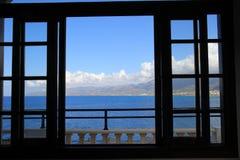 Sikt från fönstret Fotografering för Bildbyråer
