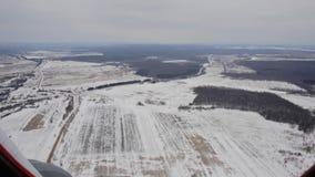 Sikt från fönstret av helikoptern arkivfilmer