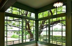 Sikt från fönstret av rummet Royaltyfria Foton