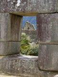 Sikt från fönstret Machu Picchu, Peru Royaltyfri Fotografi