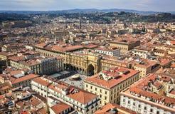 Sikt från Florence Duomo arkivfoton