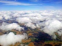 Sikt från flygplan Royaltyfri Foto