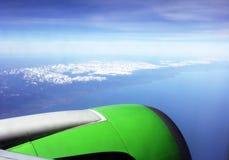 Sikt från flygplanet Royaltyfri Foto