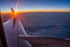 Sikt från flygplanet Arkivbilder