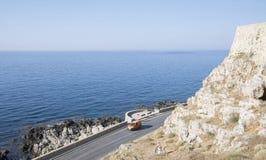 Sikt från Fortezzs fästning på havet. Rethymno Fotografering för Bildbyråer