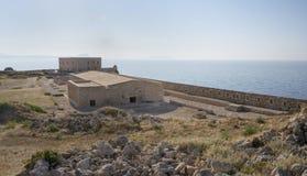 Sikt från Fortezzs fästning på havet. Rethymno Royaltyfri Bild