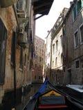 Sikt från gondolen venice Italien Royaltyfria Bilder