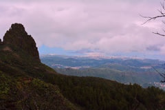 Sikt från Gran Canaria berg Arkivbild