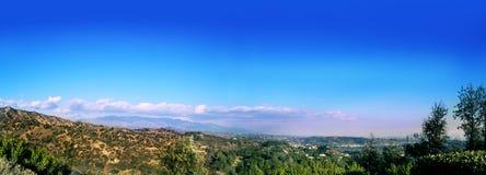 Sikt från Griffith Observatory i Griffith Park, Los Angeles, Ca Royaltyfri Fotografi