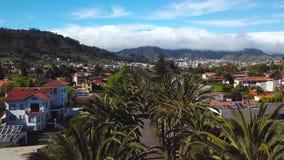 Sikt från höjden på townscape San Cristobal De La Laguna, Tenerife, kanariefågelöar, Spanien stock video