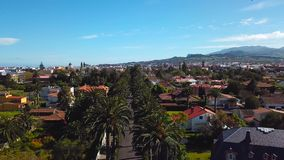Sikt från höjden på townscape San Cristobal De La Laguna, Tenerife, kanariefågelöar, Spanien arkivfilmer
