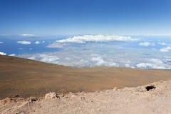 Sikt från Haleakala, Maui fotografering för bildbyråer