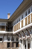 Sikt från haremmen i den Topkapi slotten, Istanbul Royaltyfria Foton