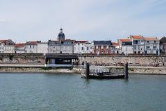 Sikt från havet, La Rochelle, Frankrike Arkivfoto
